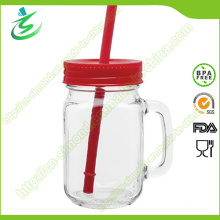 16 Oz Glass Mason Jar with Handle, Water Tumbler