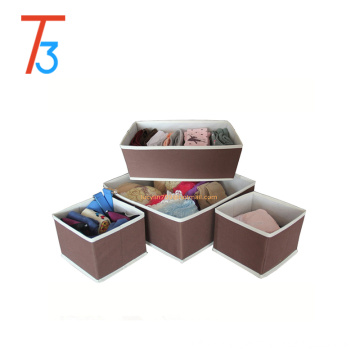 4 pcs 1 set Oxford Canvas Large collapsible Foldable Storage Drawer Closet Dresser Organizer Bins