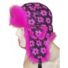 Sombrero de invierno con el hombre hizo piel (VT031)
