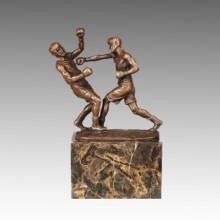 Estatua Deportiva Jugadores De Boxeo Escultura De Bronce, Milo TPE-770