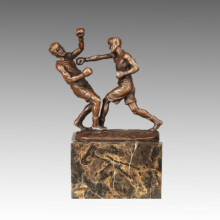 Спортивная статуя Регби 2 игрока Бронзовая скульптура, Milo TPE-767