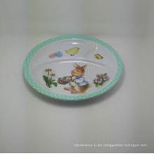 (BC-PM1021) Placa reutilizable del bebé de la melamina de la alta calidad