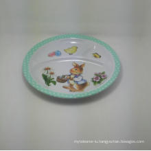 (BC-PM1021) High Quality Reusable Melamine Baby Plate