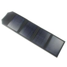 Universal 14 watts carregador solar dobrável com portas USB duplas, painéis Ultra-finos e correia de transporte- carrega rapidamente Smartphones