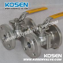 Válvula de esfera de flutuação de aço inoxidável com operação da alavanca