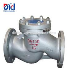 Porta de pressão de água V 5 Montagem Voltar Pneumático função Cast Steel Lift Tipo Válvula de retenção Vertical