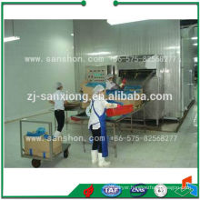 Fluidized Vegetable IQF Freezer