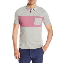 男性用スタイリッシュフィットネス2トーンポロシャツ