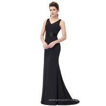 Starzz Robe de soirée formelle en dentelle à encolure en V à manches longues sans manches ST000083-1