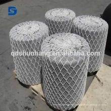 Guardabarros con espuma de poliurea marina certificada ISO 9001 con red de cable