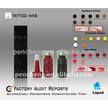 Перманентный макияж для татуировки Пигмент / Чернила -22colors 12ml / bottle-Liquid