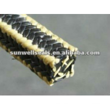 Empanque de PTFE de grafite com cantos de fibra de aramida