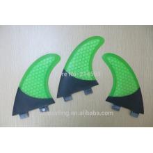 2016 metade de carbonos FCS GL OEM design Surf barbatanas cor verde à venda