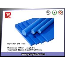 Bonne tige résistante à l'usure de polyamide de nylon bleu
