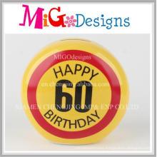 60th Birthday Ceramic Emoji Speical Gift Money Bank