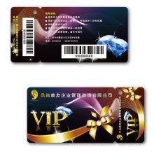 Combo Tear Off Card Carte à code à barres carte magnétique