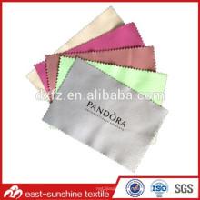 Fabriqué en usine pour l'impression en soie en tissu de lunettes de suède; Tissu de nettoyage d'objectif; Tissu de nettoyage de lunettes de soleil