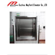 Elevador de montacargas de alta seguridad con cabina de acero inoxidable
