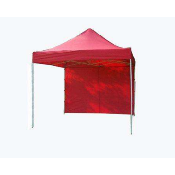Carpa elevada comercial simple plegable con pared lateral
