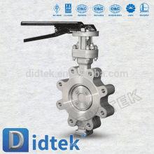 Didtek Triple Offset Lug Tipo de golpe-nuestro eje de prueba Válvula de mariposa de acero inoxidable