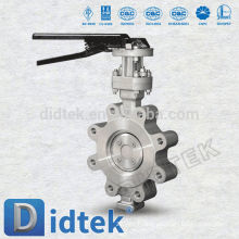 Didtek Triple Offset Lug Type Stainless Steel Butterfly Valve With Lever