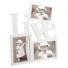 Wooden Wall White Collage Photo Picture Frame