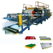 Rolo automático do painel de sanduíche de lãs de rocha / EPS que forma a linha de produção da máquina / telhado