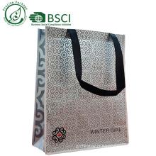 Saco de compras de bambu personalizado para supermercado