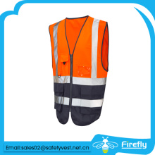 cheap and high quality high visibility reflective vest with pocket
