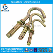 China supplier best price color zinc plated sleeve anchor with hook bolt