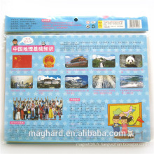 Chine fournisseur en gros Custom Magnetic World Map / Country Map, puzzle magnétique