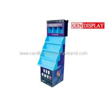 Promotional 4 Tier Cardboard Product Display Stands For Pet