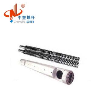 best quality conical twin screw barrel for PP PVC plastic sheet China manufactory