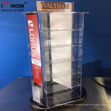 Classic Fashion Products Modern Shop Counter Design Retail Acrylic Display Stand Counter Rotating