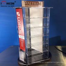 Produtos de moda clássicos Modern Shop Counter Design Retail Acrílico Display Stand Counter Roating