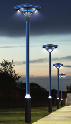 Iron Profile Courtyard Lamps