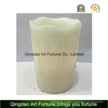 Flameless LED Candle-White Color and Dripping Finish