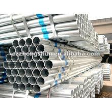 Tuyau en acier galvanisé à chaud chaud BS1387 / ASTM A53 / ASTM A106 GrB / Q235 / SS400 / SS490