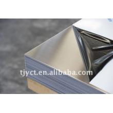 folha de aço inoxidável de acabamento acetinado
