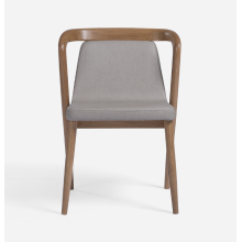 Современные эргономичные деревянные кресла для отдыха с тканевым сиденьем