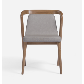 Chaises de loisirs ergonomiques modernes en bois avec assise en tissu