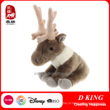 Presente de Natal Stuffed Toy Soft Moose Toy Plush