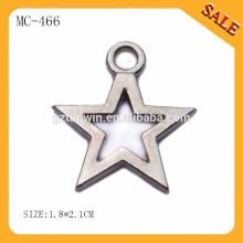 MC466 Atacado máquina gravada personalizada pendurar metal chave tags