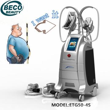 Máquina de adelgazamiento Freezefat Criolipolysis Machine Etg50-4s 4 maneja