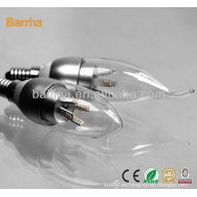 2013 5w led bombilla de luz artificial de la vela led SMD3014