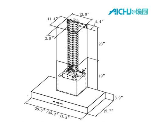 rangehood duct adaptor