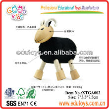 Hölzernes Spielzeug Tier Schwarzes Schaf