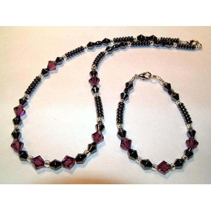 Hematite Set Darkred Jewelry