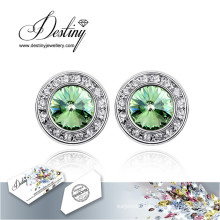 Destiny Jewellery Crystals From Swarovski Earrings New Round Earrings
