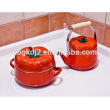 5 stücke Tomaten Emailleauflauf Topf Milch Topf Suppe Topf juego de ollas de peltre